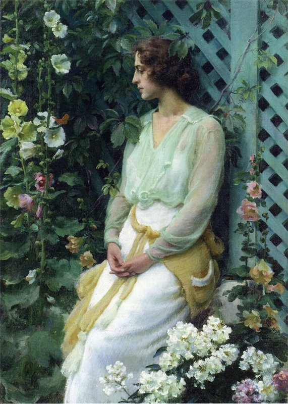 Charles Courtney Curran - Green Lattice