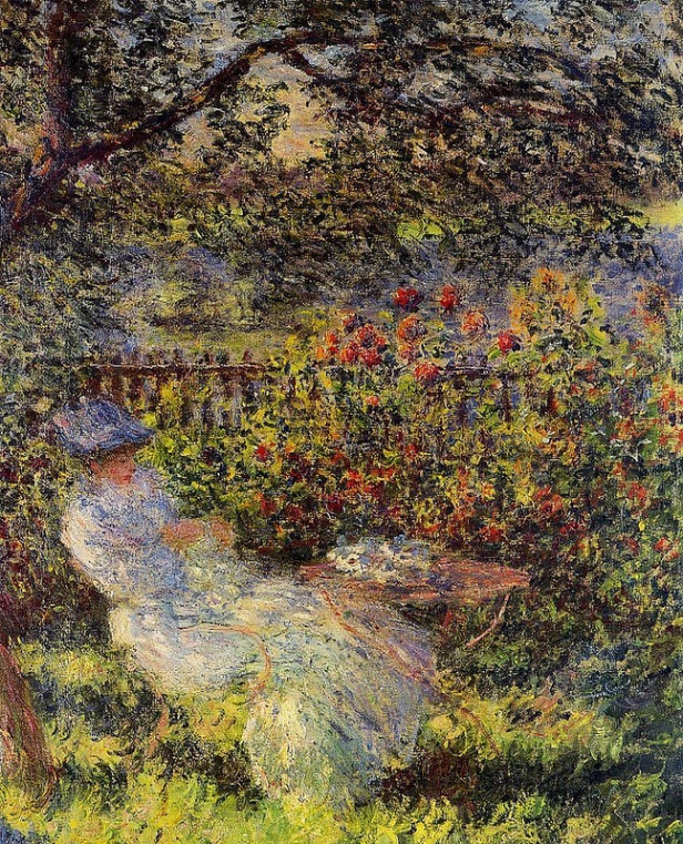 Claude Monet - Alice Hoschede in the garden