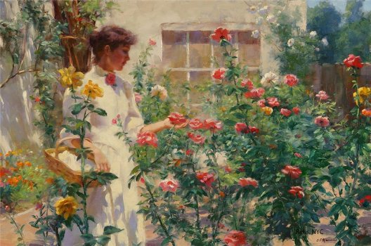 Gregory Frank Harris - Among the Roses