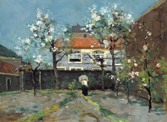 Jan Weissenbruch - Back-Garden at the Kazernestraat, The Hague