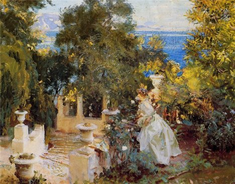 John Singer Sargent - A Garden in Corfu