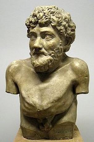 Ελληνιστικό άγαλμα που παριστάνει τον Αίσωπο, από τη συλλογή της Βίλας Αλμπάνι, Ρώμη