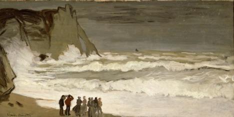 Claude Monet. Rough Sea at Etretat (1868-1869)