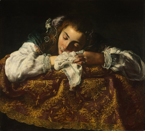 Domenico Fetti-Sleeping Girl, 1620–22.