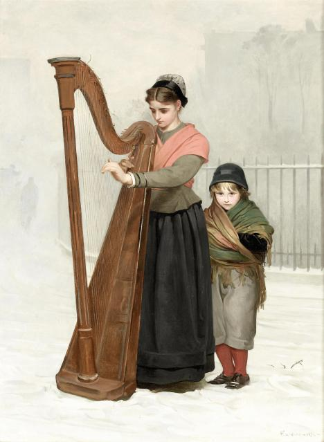 Philip Hermogenes Calderon -The Orphans, 1870