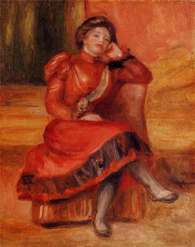 Pierre-Auguste Renoir - Spanish Dancer in a Red Dress