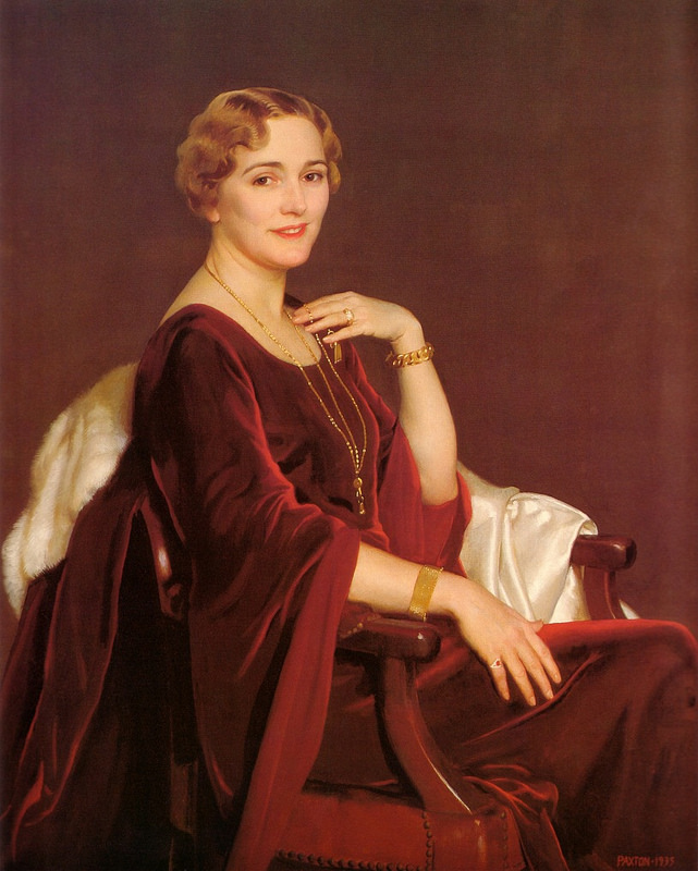 William McGregor Paxton - Portrait of Mrs. Charles Frederic Toppan