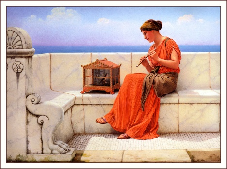 John William Godward-A Song Without Words-1919
