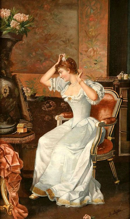 Putting on the Finishing Touches by Moritz Stifter (1857-1905).
