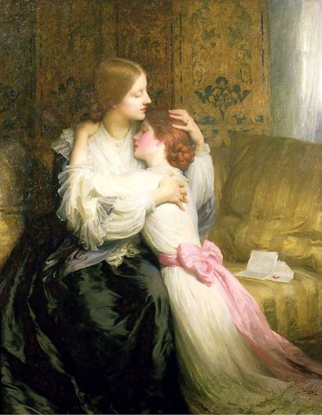 The Mother by Frank Dicksee, 1907.