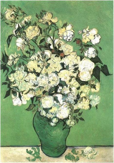 Van Gogh - Pink Roses in a Vase, 1890