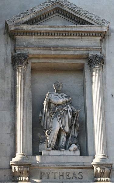Άγαλμα του Πυθέα στη Μασσαλία.